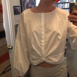 BP Nordstrom white button up shirt